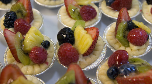 Al Hartmann     The Salt Lake Tribune Samples of mini fruit tarts made by Market Street Grill were on display Tuesday at Salt Lake City International Airport. Officials showcased food samplings from several Salt Lake restaurants that will be opening outlets at the airport.