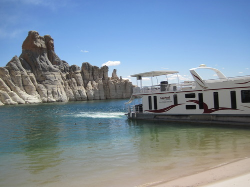 Tom Wharton  |  The Salt Lake Tribune Houseboating at Lake Powell.