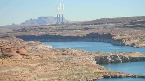 The Navajo Power Plant in Page, Ariz., is a dominant feature near Lake Powell. (Tom Wharton Photo)
