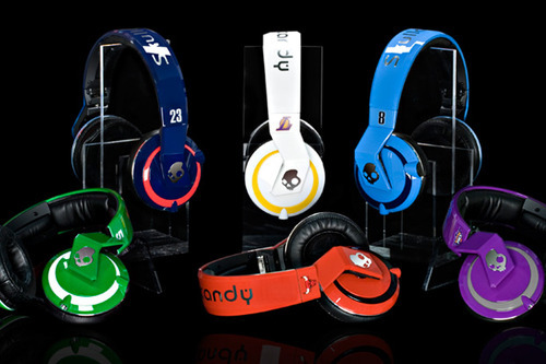 Courtesy of Skullcandy A collection of Skullcandy headphones created for the 2010 NBA All-Star Game.