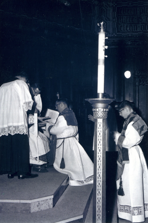 Monsignor J. Terrence Fitzgerald is ordained May 12, 1962, at the Cathedral of the Madeleine.