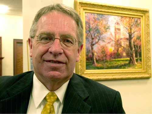 USU President Stan Albrecht  Al Hartmann  |  Salt Lake Tribune file photo