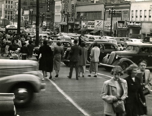 File photo   The Salt Lake Tribune   The corner of 200 S. Main in September, 1950.