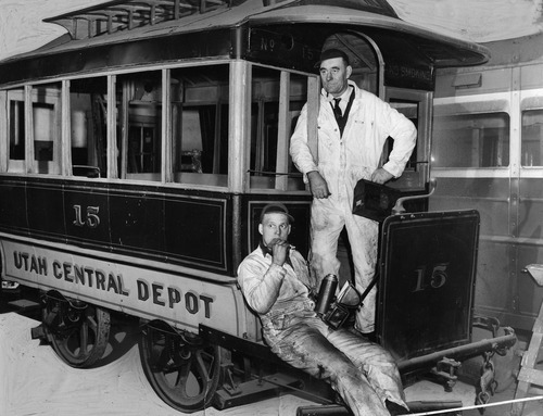 File photo   The Salt Lake Tribune  A street car is photographed in 1945.