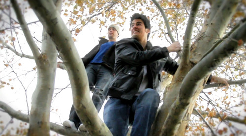 Randy Roberts, left, and Richard Sharrah star in a scene from the YouTube series