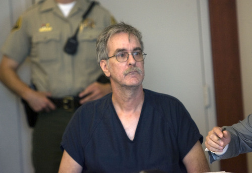 Al Hartmann  |  The Salt Lake Tribune Dale  Beckering, charged with aggravated abuse of a disabled adult in the March death of 22-year-old Christina Harms, sits in the 3rd District Court in Salt Lake City on Friday for a preliminary hearing.