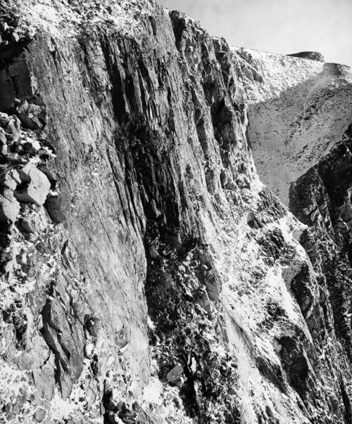 The wreckage of a Hughes Air West DC9-31 jetliner, Hughes Airwest Flight 706, lies at the bottom of a deep gorge in the San Gabriel mountains east of Los Angeles June 8, 1971. The jet, with 49 people aboard, collided with a Marine F4 Phantom jet on June 6. One of two Marines in the Phantom parachuted to safety. Harold Filan  |  AP file photo