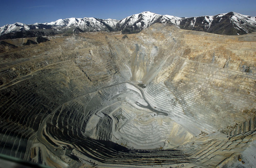 Francisco Kjolseth  |  The Salt Lake Tribune Alaskans worried about the massive Pebble copper mine proposed for their state near Bristol Bay by Rio Tinto got a bird's-eye view of the Kennecott mine on Monday, in an effort to give Alaskans an idea of what they face.