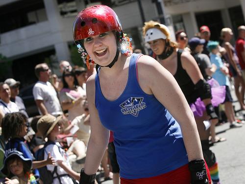 Scott Sommerdorf  |  The Salt Lake Tribune The Utah Pride parade heads down 200 South, Sunday, June 5, 2011.