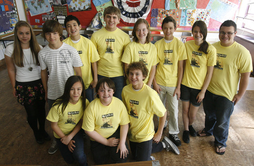 Rick Egan   |  The Salt Lake Tribune Eleven of Courtney Hansen's students are going on to the National History Day event in Maryland.
