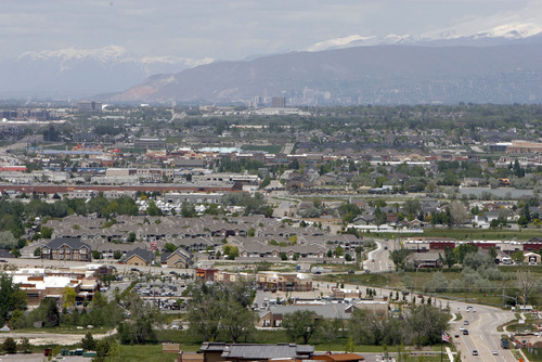 Francisco Kjolseth  |  The Salt Lake Tribune Few gaps remain looking north from the Draper area as shifts in population in the south end of Salt Lake County will be a major factor in legislative redistricting.