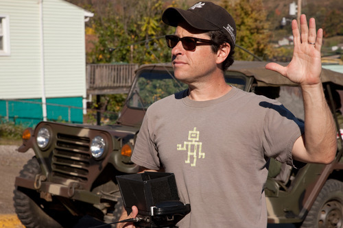 In this film publicity image released by Paramount Pictures, director J.J. Abrams is shown on the set of