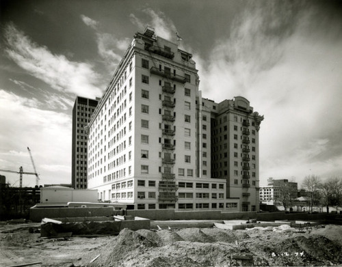 The Hotel Utah exterior before the remodeling. Thursday is Hotel Utah's 100th anniversary. Photo courtesy Marriott Library