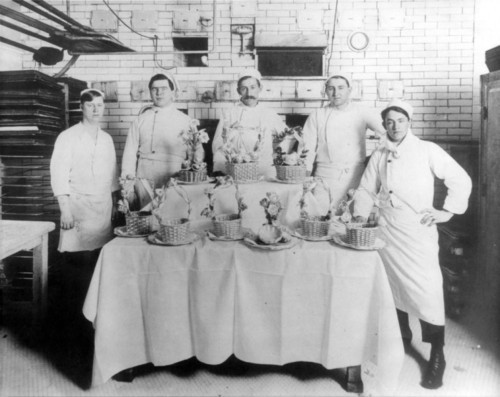 Photo courtesy Marriott Library The kitchen staff of the Hotel Utah in 1911. Thursday is Hotel Utah's 100th anniversary.