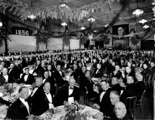 Photo courtesy Marriott Library The Lafayette Ballroom in the Hotel Utah, 1938. Thursday is Hotel Utah's 100th anniversary.
