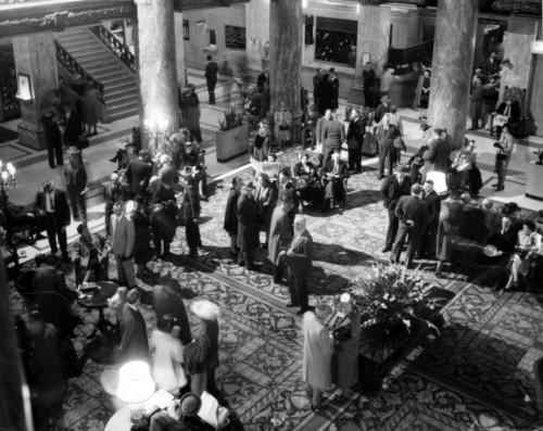 Photo courtesy Marriott Library The Hotel Utah lobby in the 1930s. Thursday is Hotel Utah's 100th anniversary.