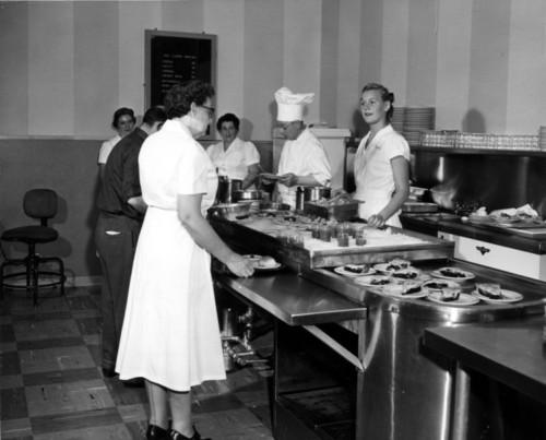 Photo courtesy Marriott Library The grand opening of new employee dining room in the Hotel Utah on May 30, 1955. Thursday is Hotel Utah's 100th anniversary.