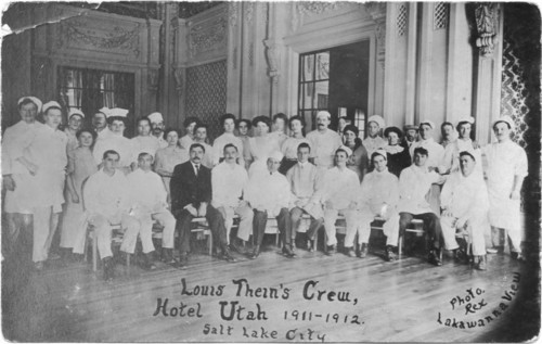 Photo courtesy Marriott Library Hotel Utah workers in 1912. Thursday is Hotel Utah's 100th anniversary.