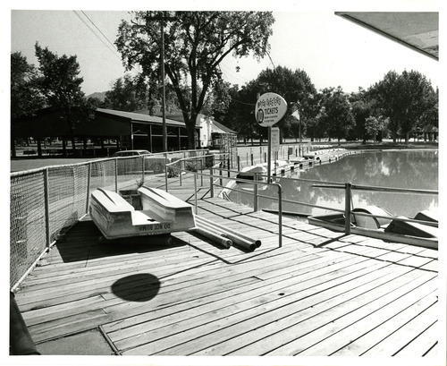 This undated photo shows the boat docks at Liberty Park. Tribune file photo
