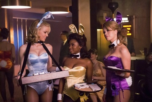 Amber Heard as Maureen, left, Naturi Naughton as Brenda and Leah Renee as Alice in the pilot episode of
