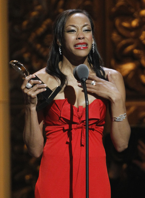 Nikki M. James accepts the Tony Award for Best Performance by an Actress in a Featured Role in a Musical for