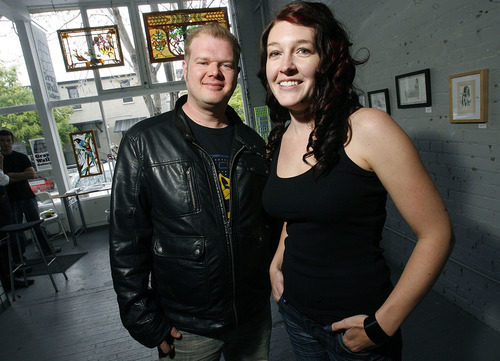 File photo  |  The Salt Lake Tribune  Tamara Fox and Derek Dyer are the organizers of the Urban Arts Festival in May.