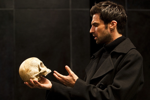 File photo  |  The Salt Lake Tribune  Michael Crane, playing the part of Hamlet, acts out a scene during a rehearsal of