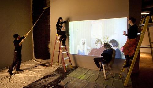 File photo  |  The Salt Lake Tribune   Salt Lake Art Center employees enjoy their Tab sodas as they work to prepare a space for artist James Franco's