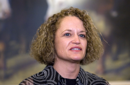 Al Hartmann  |  The Salt Lake Tribune Rep. Jackie Biskupski, D-Salt Lake City, Utah's first openly gay legislator, resigned Monday, June 13, from the Utah House of Representatives after serving for 12 years.  She said that due to unforeseen circumstances she must move outside her district.