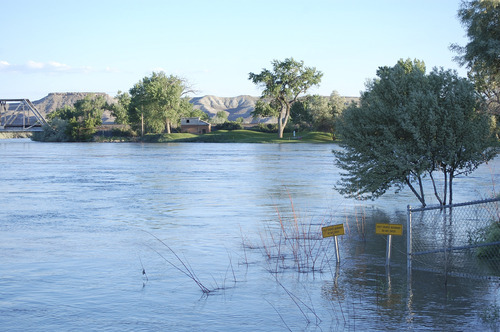 High water is affecting the golf course at Green River State Park but most of the campgrounds and day use areas are open. While all state parks are now open, access to some activities is still limited due to water from this year's heavy snowpack. Courtesy Utah State Parks