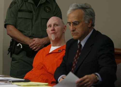 File photo  |  The Salt Lake Tribune Convicted murderer Ronnie Lee Gardner, center,  with his attorney Andrew Parnes, appear in Judge Robin Reese's courtroom at the Matheson Courthouse in Salt Lake City on April 22, 2010. Judge Reese was being asked to issue a warrant setting an execution date for Gardner.