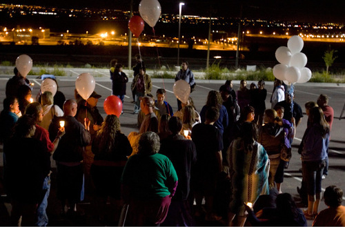 File photo | The Salt Lake Tribune With the Utah State Prison in the background, Ronnie Lee Gardner supporters hold a vigil just after midnight Friday, June 18, 2010 in Draper. Ronnie Lee Gardner was executed by firing squad.