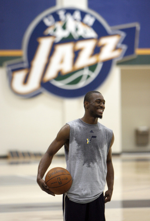 Francisco Kjolseth  |  The Salt Lake Tribune Connecticut guard Kemba Walker wraps up a workout with the Utah Jazz on Wednesday, June 15, 2011, at their practice facility in Salt Lake City.