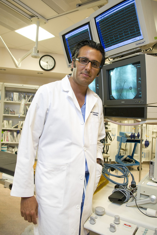 Dr. Nassir Marrouche, a professor at the University of Utah, has pioneered a new way of treating the heart condition known as atrial fibrillation or AFib Courtesy Comprehensive Arrhythmia Research & Management Center