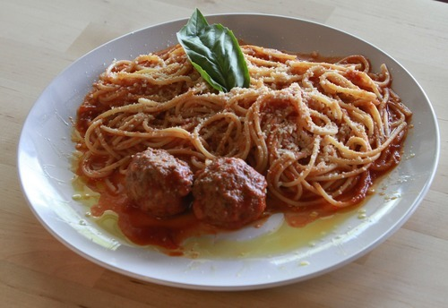 Rick Egan   |  The Salt Lake Tribune Pasta e polpette  - spaghetti with meatballs at Cucina Vanina in Cottonwood Heights.