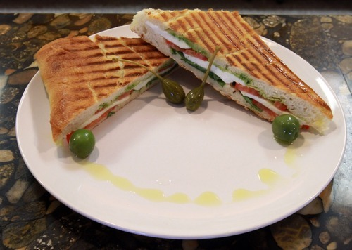 Rick Egan   |  The Salt Lake Tribune Panino Caprese at the Cucina Vanina in Cottonwood Heights.