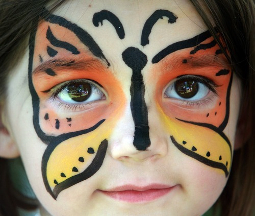 Rick Egan   |  The Salt Lake Tribune Emilie Sjoblom had her face painted in the toddler zone.