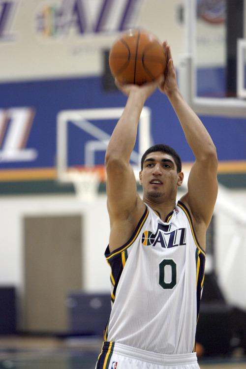 Francisco Kjolseth  |  The Salt Lake Tribune New Jazz recruit Enes Kanter, a promising 19-year-old prospect is poised to help the Utah Jazz. June 25, 2011.
