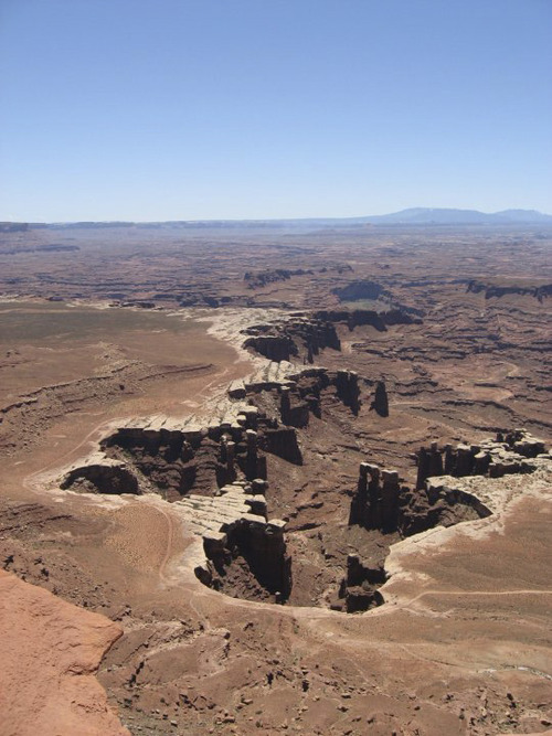 White Rim Overlook provides a view of Canyonlands National Park and southeast Utah. In this photo, taken from the overlook, you see Gooseberry Canyon. courtesy of Jessica Gottlieb.