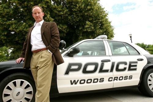 Leah Hogsten  |  The Salt Lake Tribune Greg Butler is the new police chief for Woods Cross,  Tuesday, July 5 2011 in Woods Cross. Butler hopes to connect to the community by beefing up social media, meeting with elementary schools and getting community officers out on the pavement.