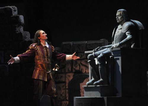 Photo courtesy of Karen Almond Mark Womack performs as Don Giovanni in Utah Festival Opera and Musical Theatre's new production.