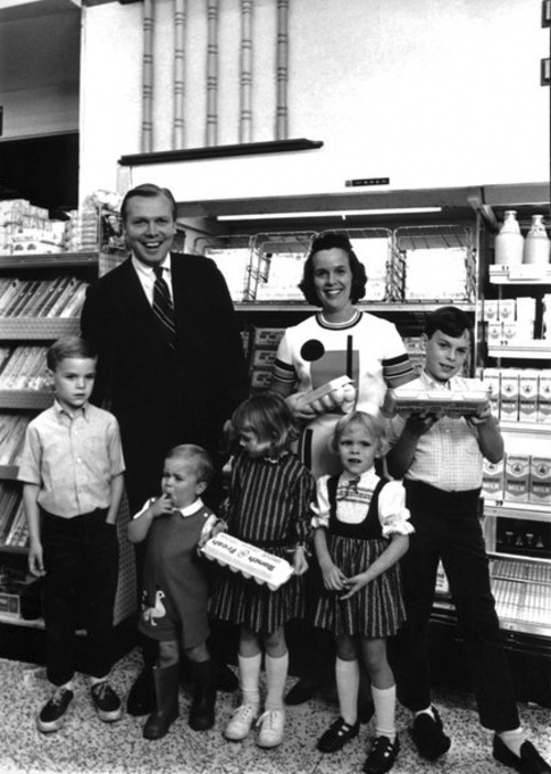 The Huntsman family wasn't always wealthy. Jon Huntsman Sr. recalls the days when he would sometimes have his oldest son accompany him on his egg-sales route in Los Angeles. Courtesy Image