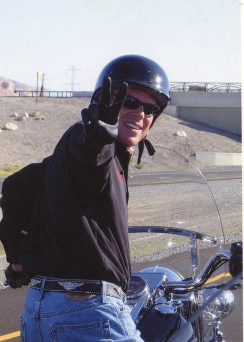 Jon Huntsman Jr.'s motorcycling hobby is getting a lot of attention on the campaign trail.  Courtesy photo.
