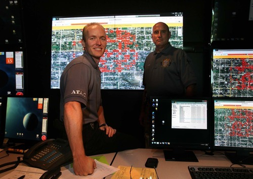 Leah Hogsten  |  The Salt Lake Tribune Ogden Crime Center police officers Nick Poorte  (left) and Bob Evans are among four employees who staff the