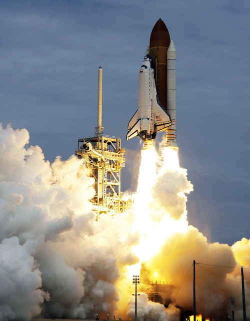 John Raoux  |  The Associated Press This will be the sixth layoff in the aerospace systems group in the past two years for ATK, which made the twin solid-fuel booster motors used to propel Atlantis and the other shuttles into low-earth orbit.