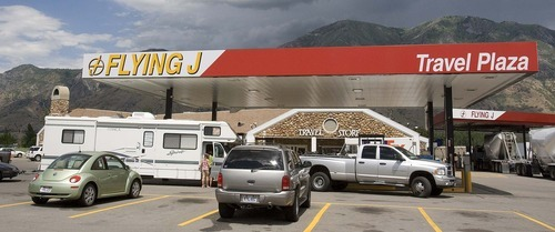 Paul Fraughton  |  The Salt Lake Tribune. The Flying J in Springville which is one of the public/private rest stops in the state. Monday  July 18, 2011