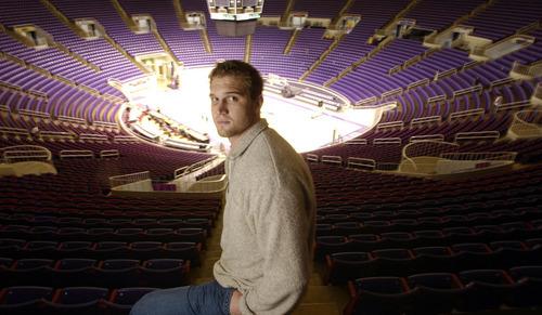 Weber State center Lance Allred, who left Utah's program after some verbal abuse by coach Rick Majerus has since flourished at Weber State.  Photo by Francisco Kjolseth/The Salt Lake Tribune 2/7/2005