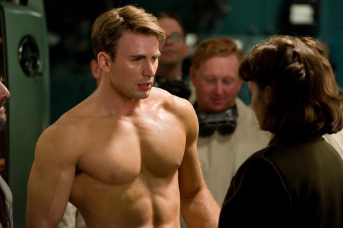 Chris Evans and Hayley Atwell in