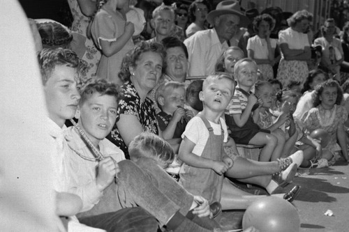 Tribune file photo  Families watch the Days of '47 Parade on July 24, 1947.