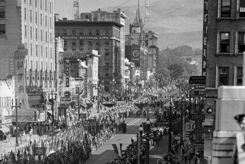 Tribune file photo  The Days of '47 Parade makes its way down Main Street on July 24, 1947.
